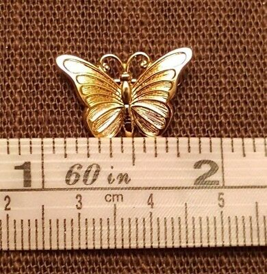 Vintage BEAU Sterling Silver Small Butterfly Pin 925 with gold plate