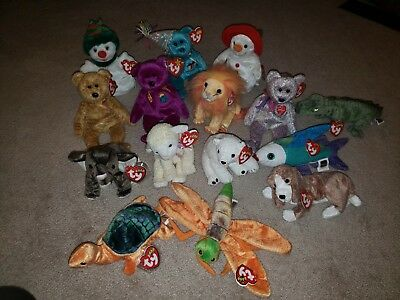 15 TY Beanie Baby Collection. Beanie Babies Sold together!!