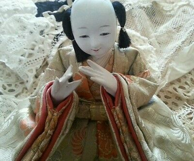 Antique Vtg Ningyō Japanese Doll Male Japan Asian Dolls Traditional Costume Hina