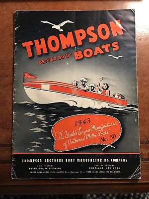 1943 Thompson Brothers Boat Catalog - Chris Craft vintage wood outboard