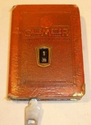 VINTAGE CALEMETER BANK WITH KEY with DAY & DATE
