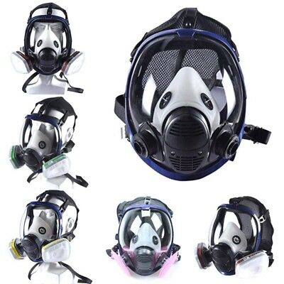 Gas Mask Full Face Facepiece Reusable Respirator Spray Paint Filter for 3M 6800