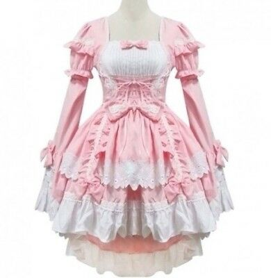 Lolita Dress Pink Chobits Cosplay