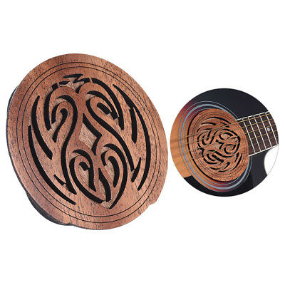 Acoustic Guitar Feedback Buster Fire Soundhole Cover Sound Buffer Wood B8A9