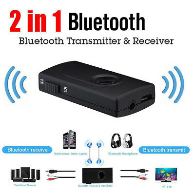 Bluetooth V4 Transmitter Receiver Wireless A2DP 3.5mm Stereo Audio Music Adapter
