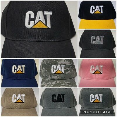 CAT Embroidered Baseball Hat Cap Adjustable Caterpillar Heavy Equipment