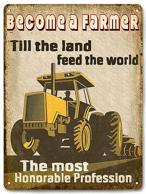 FARMER tractor METAL SIGN usa ranch farm vintage style country wall decor 639