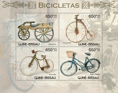 Bicycles Fahrräder Transport Guinea-Bissau MNH stamp sheet