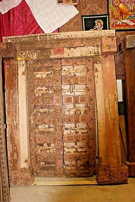 Collectors Item 18c Indian Architecture Antique Door Solid Teak Wood CLEARANCE