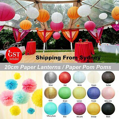 20cm Paper Lanterns Chinese Festival Birthday Wedding Party Home Decorations AU