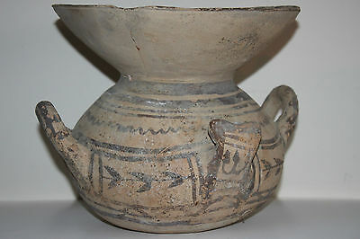LARGE  ANCIENT GREEK DAUNIAN  POTTERY OLLA CRATER 6th CENTURY BC