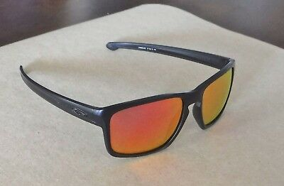 12cf482772 New Oakley Sliver XL Sunglasses Matte Black   Custom Polarized Ruby Iridium  Lens