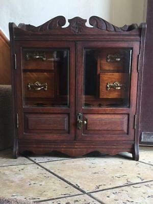 Antique Wooden Smoker's Cabinet