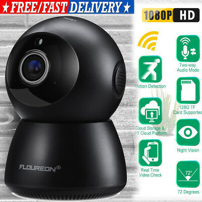 FLOUREON 1080P Wireless Security IP Camera Surveillance Night Vision BabyMonitor