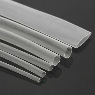 150Pcs Cable Tubing Tube Sleeving Wrap Clear Heat Shrink Heatshrink Wire Newly