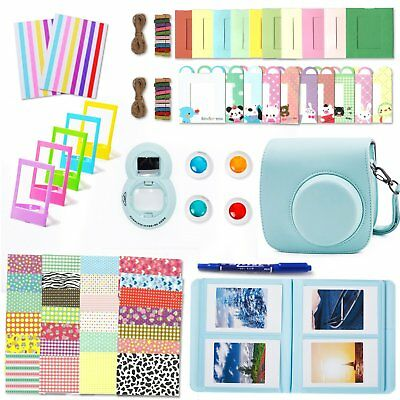 10 In 1 For Fujifilm Fuji Instax Mini 8 9 Film Camera PU Bag Cover Case Set FOUN