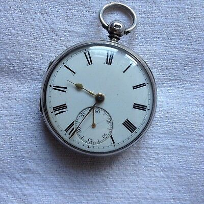 Silver Pocket Watch With Hallmarks For London 1932.
