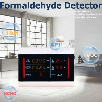 Formaldehyde Air Quality Pollution Monitor Meter Tester Detector Household