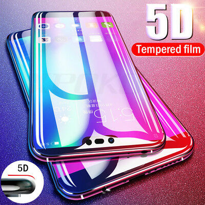 Genuine 5D Full Cover Tempered Glass 9H Screen Protector For Huawei P20 Pro Lite