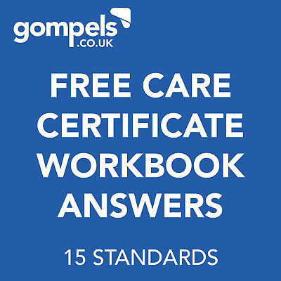 Free Care Certificate Workbook Answers - 15 Standards (Read Description)