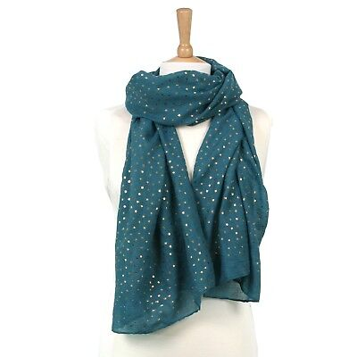 Dark Pink Purple Teal Green Navy Blue Gold Small Star Stars Scarf Scarves Gift