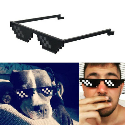 Thug Life Stage Show Glasses Unisex Deal With It Meme Funny Eyewear 8 Bit Pixel