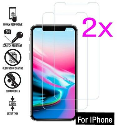 TEMPERED GLASS FILM SCREEN PROTECTOR FOR NEW iPhone XR XS MAX 8 7 6s 5 1/2PK