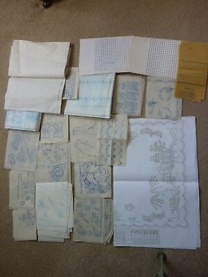 Joblot Of Vintage Embroidery & Smocking Transfers Including Deightons