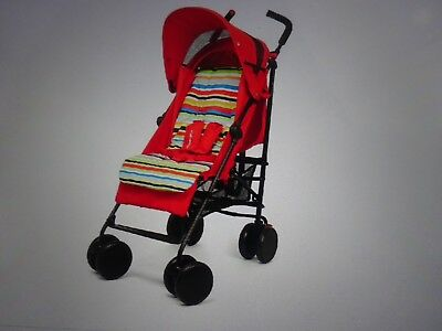 Mothercare Nanu Red Stripe Stroller, Buggy, Condition-New.