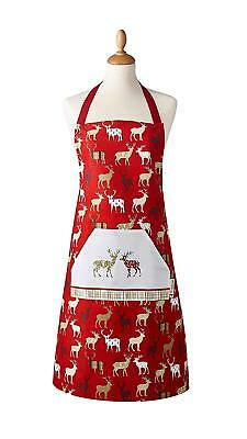 Cooksmart Christmas Highland Stag Apron cooking Baking Kitchen Chef