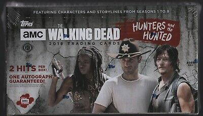 IN STOCK 2018 Topps The Walking Dead Hunters and Hunted Sealed Hobby Box 2 Hits!