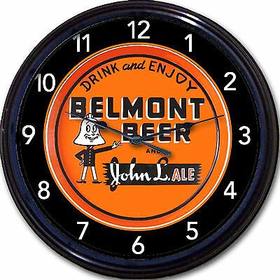Belmont Brewing Co Martins Ferry OH Beer Tray Wall Clock John L Ale Lager Brew