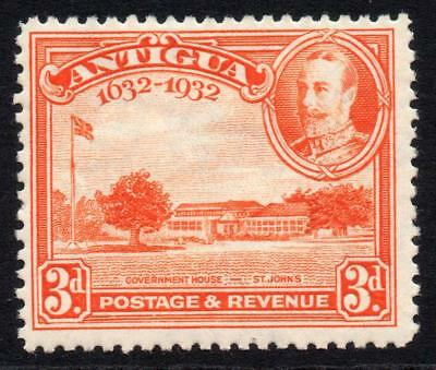 Antigua 3d Stamp c1932 Mounted Mint
