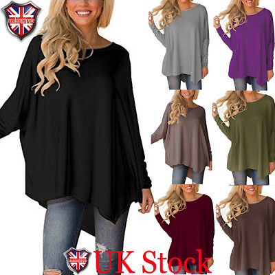 Womens Long Batwing Sleeve Sweater Baggy Jumper Loose Pullover Shirts Top Blouse