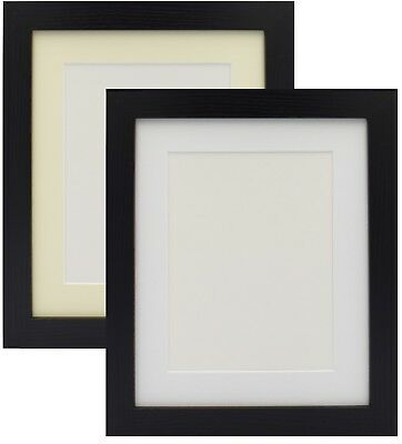 Black Photo Picture Frame Poster Frame With Mount Various Size White Ivory Mount