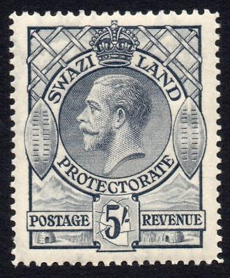 Swaziland 5/- Stamp c1933 Mounted Mint