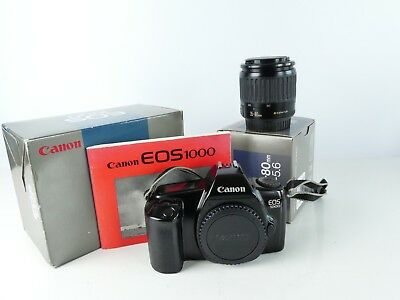 Canon Eos 1000 35Mm Film Slr Camera + 35-80Mm F4 / 5.6 Af Zoom Lens All Boxed