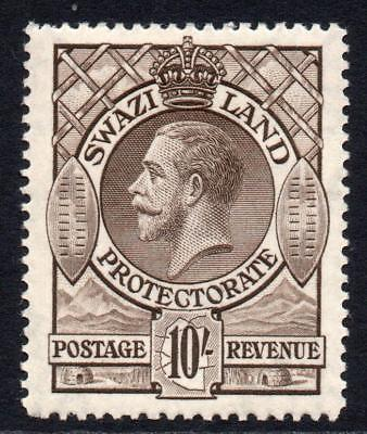 Swaziland 10/- Stamp c1933 Mounted Mint