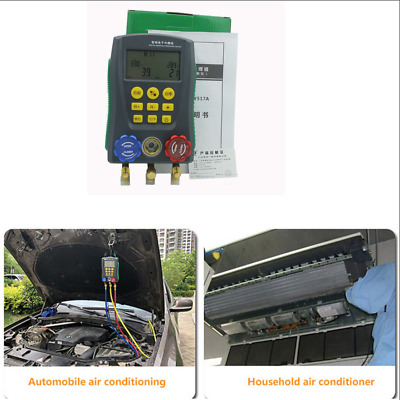 Auto Car Digital Manifold Gauge HVAC Air Conditioning Refrigerant System