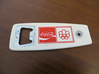 Alter Coca-Cola Flaschenöffner LAKE PLACID 1980 Olympia Olympics bottle opener