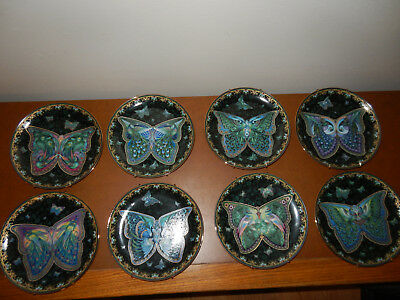 LOT OF 8 EMERALD ELEGANCE Bradford Exchange Butterfly Collector Plates