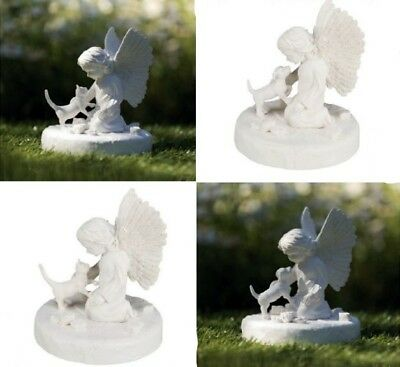 Tombstone Remembrance Memorial Stone Grave Stone Dog or Cat with Angel