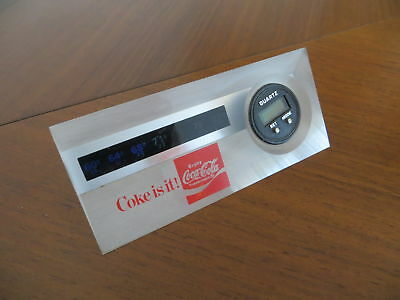 Alte Coca-Cola Tischuhr Acryl 80er Digitaluhr mit Thermometer Uhr watch clock