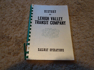 History of the Lehigh Valley Transit Company Book  Trolley Streetcar