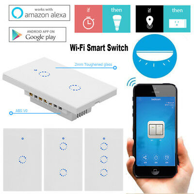 WiFi Wireless Light Relay 315MHz RF Touch APP Control Smart Wall Switch Panel US