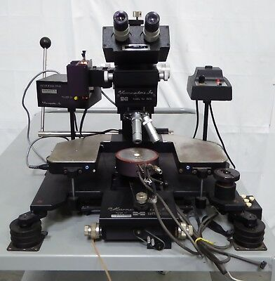 T151002 Micromanipulator Co. Model 6000 Wafer Prober Station w/ Microscope Head