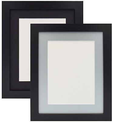 Black Photo Picture Frame Poster Frame With Mount Various Size Black Grey Mount