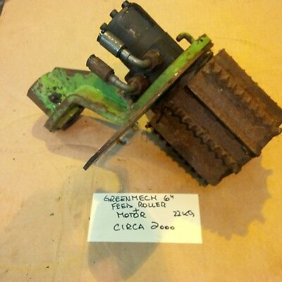 GreenMech woodchipper 6 inch feed roller and motor.