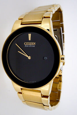 CITIZEN AXIOM BLACK DIAL GOLD TONE STAINLESS Men's Watch  AU1062-56E   CT