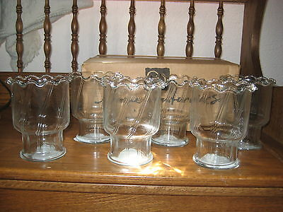 HOME INTERIORS Set of 6 Glass Votive Candleholders Cups - MIB!